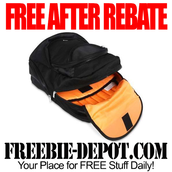 Free After Rebate Orange Backpack