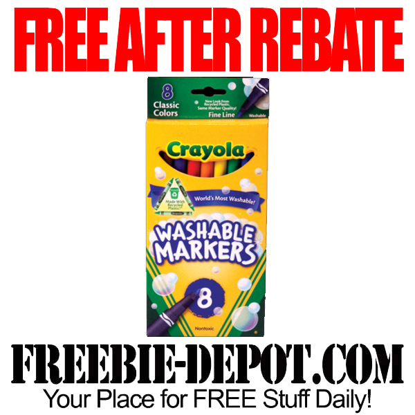 Free After Rebate Washable Markers