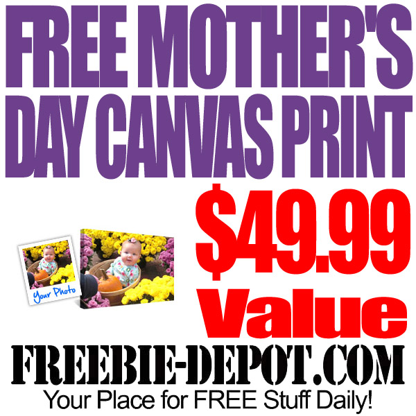 Free Mothers Day Canvas Photo Print
