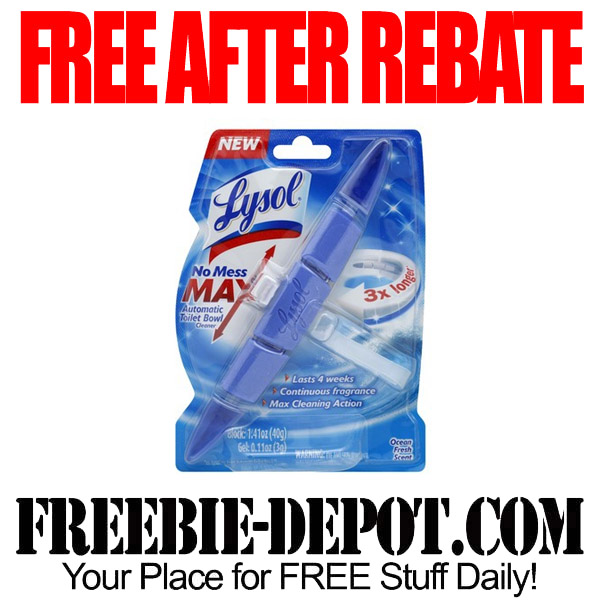 Free After Rebate Lysol Cleaner
