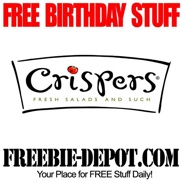 Free Birthday Stuff at Crispers