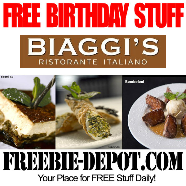 Free Birthday Italian Dessert