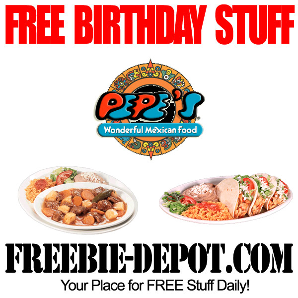 100 Percent Free Birthday Meal Pepes