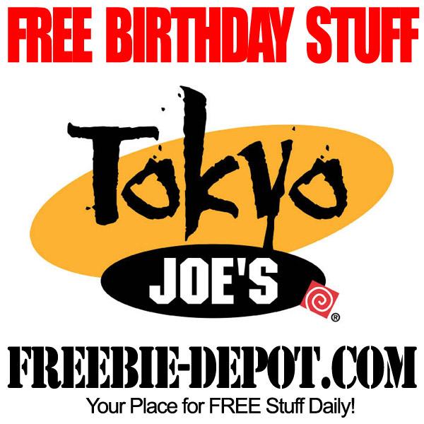 Free Birthday Tokyo Joes Meal