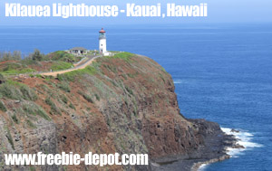 Free Kauai Tourist Attraction Lighthouse