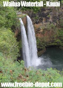 Free Kauai Hawaii Waterfall