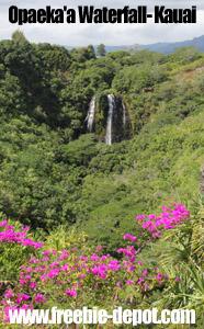 Free Kauai Hawaii Waterfalls Sightseeing