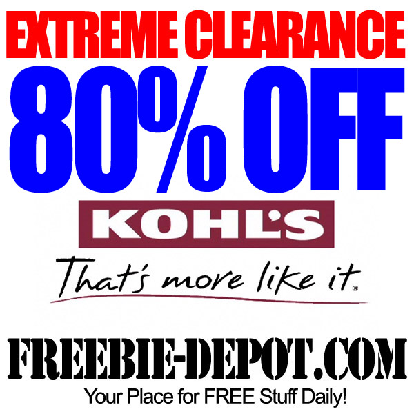 Extreme Clearance Kohls 80 Percent OFF