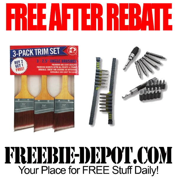 Free After Rebate Bits and Brushes