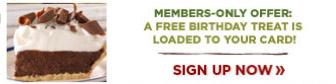 Free BDay Reward Bob Evans