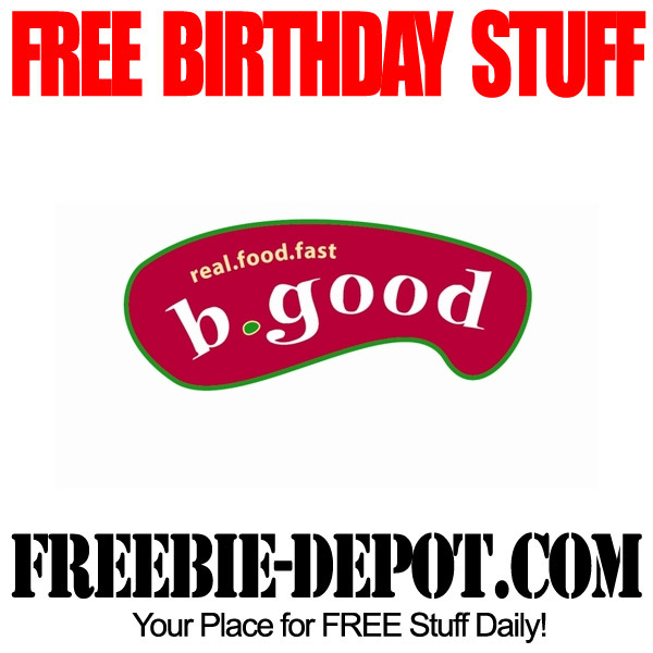 Free Birthday Burger B Good