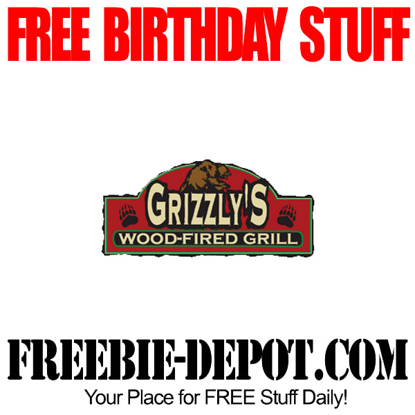 Free Birthday Entree at Grizzlys