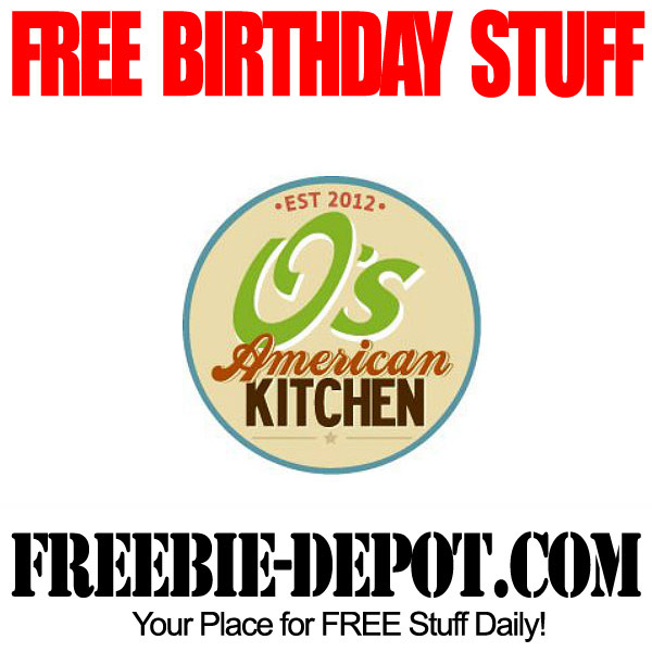 Free Birthday O's American Kitchen Dessert Cookie