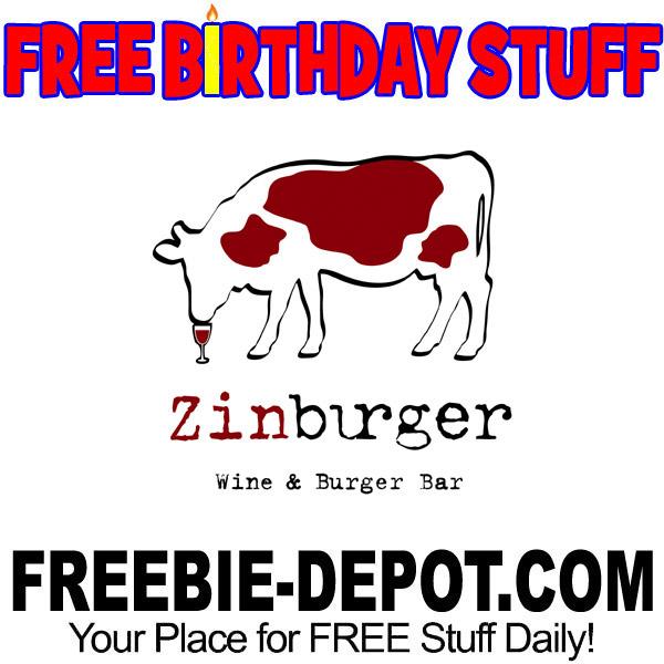 FREE BIRTHDAY STUFF – Zinburger Wine & Burger Bar