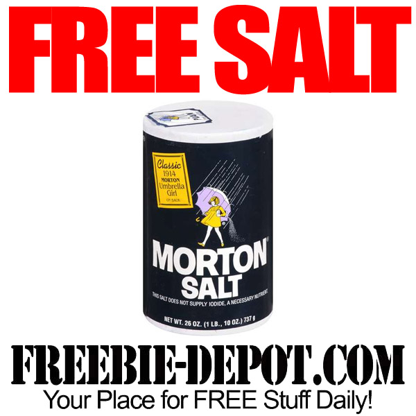 FREE AFTER REBATE – Morton Salt – Table or Iodized – Freebie Friday Digital Coupon – FREE with Electronic Coupon – Exp 4/26/15