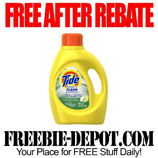 Free After Rebate Tide Detergent