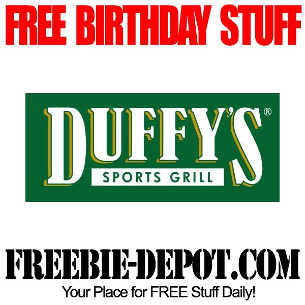 Free Birthday at Duffys Florida
