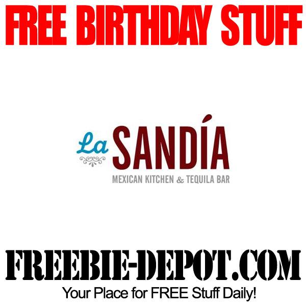 Free Birthday La Sandia Mexican Meal