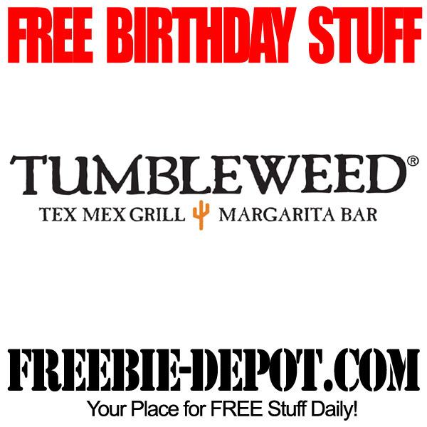 Free Birthday food at Tumbleweed