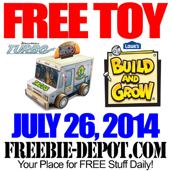 FREE Turbo Toy Taco Truck at Lowe's | Freebie Depot