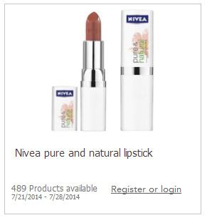 Free lipstick nivea