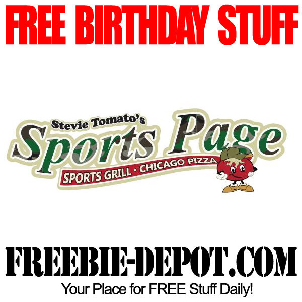 Free Birthday Sports Page