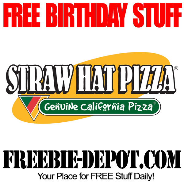 Free Birthday Straw Hat Pizza