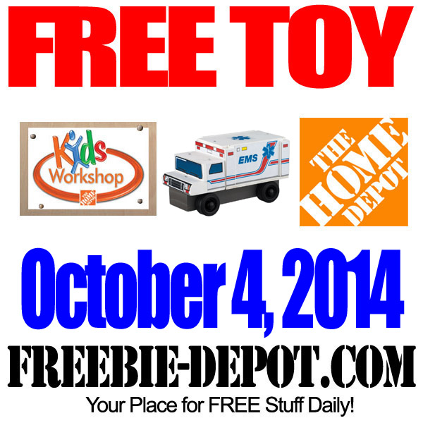 FREE Toy EMS Truck at Home Depot