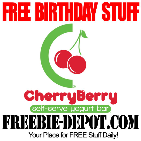 Free Birthday Frozen Yogurt at Cherry Berry