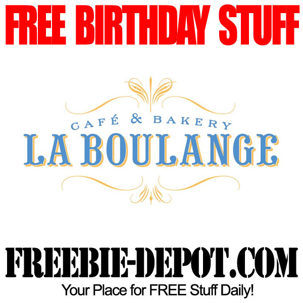 Free Birthday La Boulange/Starbucks