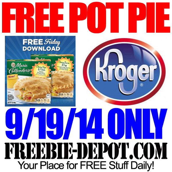 Free Pot Pie at Kroger