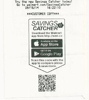 Free walmart savings catcher free money