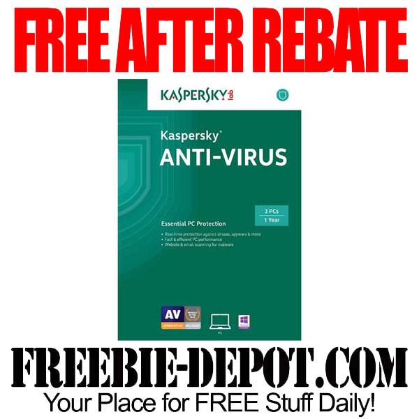 Free After Rebate Anti Virus Kaspersky