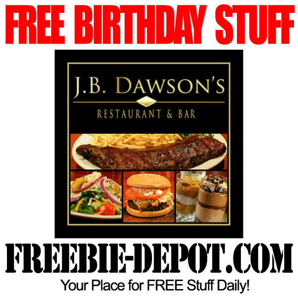 Free Birthday JB Dawsons