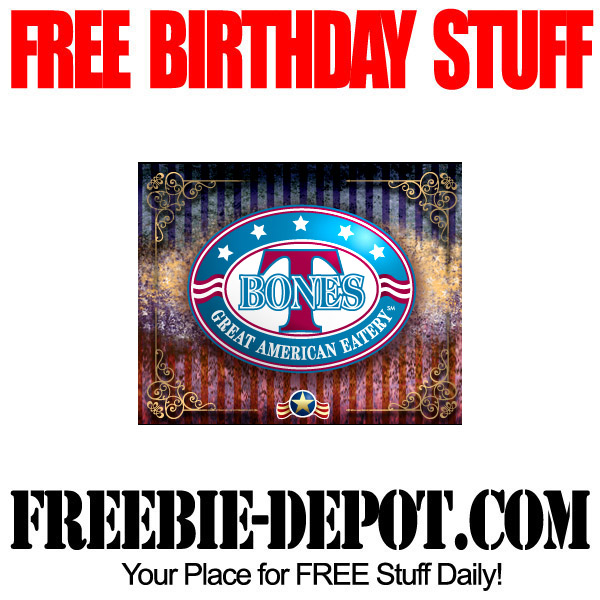 Free Birthday in New Hampshire - T-Bones