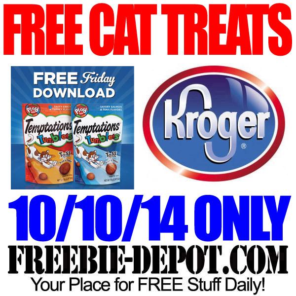 FREE Cat Treats at Kroger – FREE Friday Download Temptations Tumblers Cat Treats on October 10