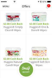 Free Huggies Wipes After Rebate with Snap