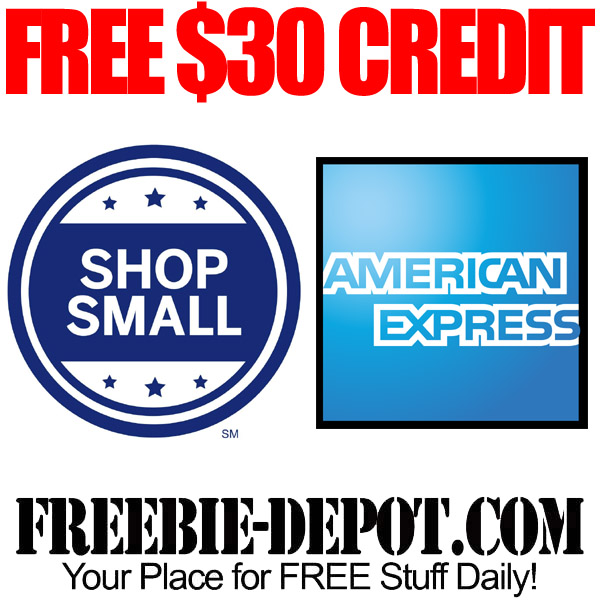 Free AMEX Credit for Shopping Small