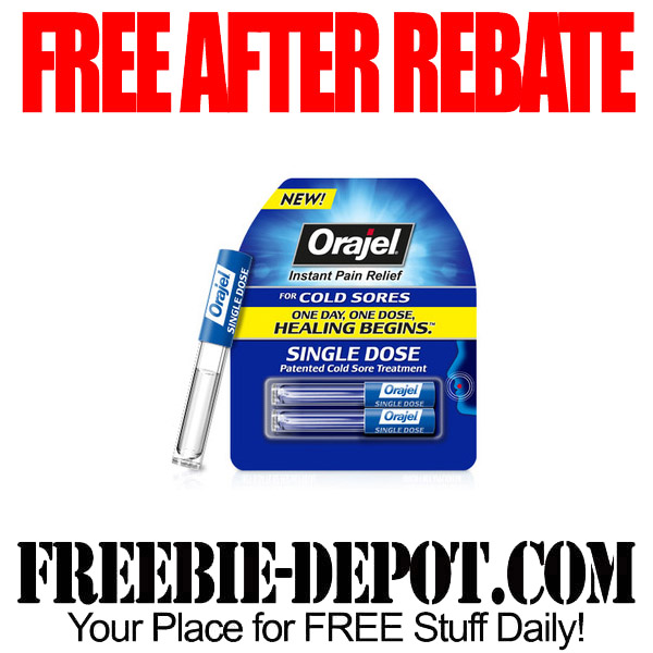 Free After Rebate Orajel for Cold Sores