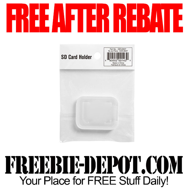 Free After Rebate SD Card Holder