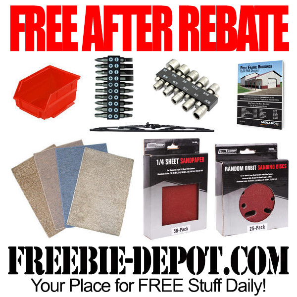 FREE AFTER REBATE – Hardware and more at Menards – FREE