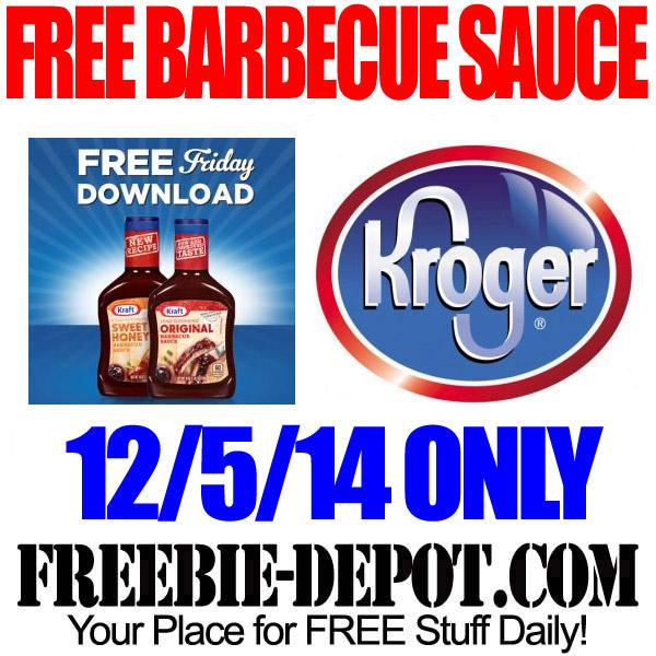 Free BBQ Sauce at Kroger