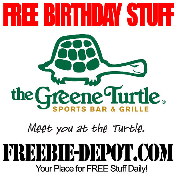 Free Birthday Greene Turtle