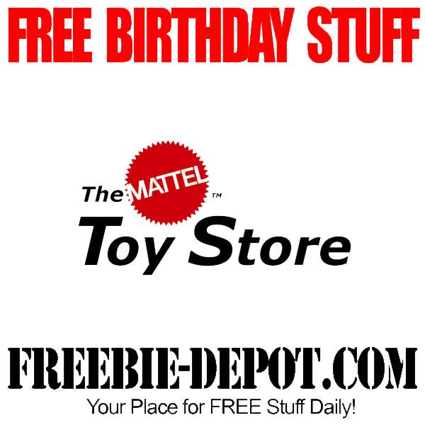 Free Birthday Mattel Toys