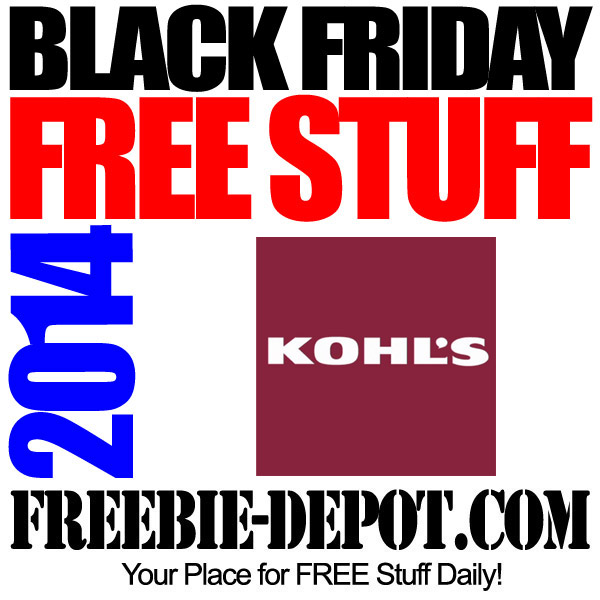 Free Black Friday Kohls 2014