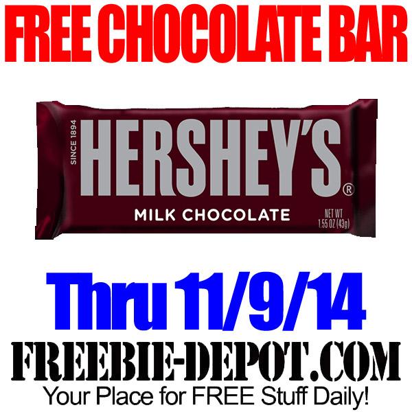 Free Hershey Chocolate Bar