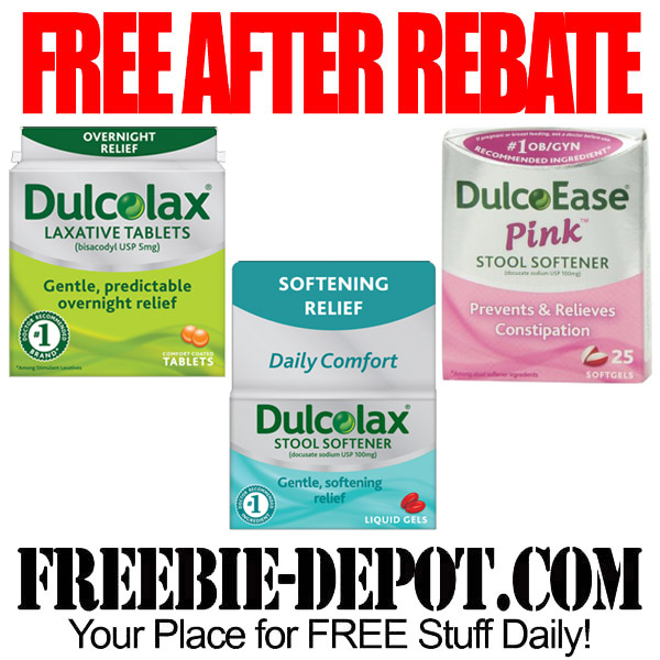 Free After Rebate Dulcolax Laxative Tablets Or Stool