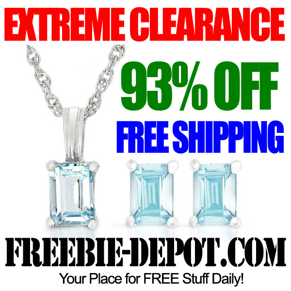 Extreme Clearance Blue Topaz Jewelry Set