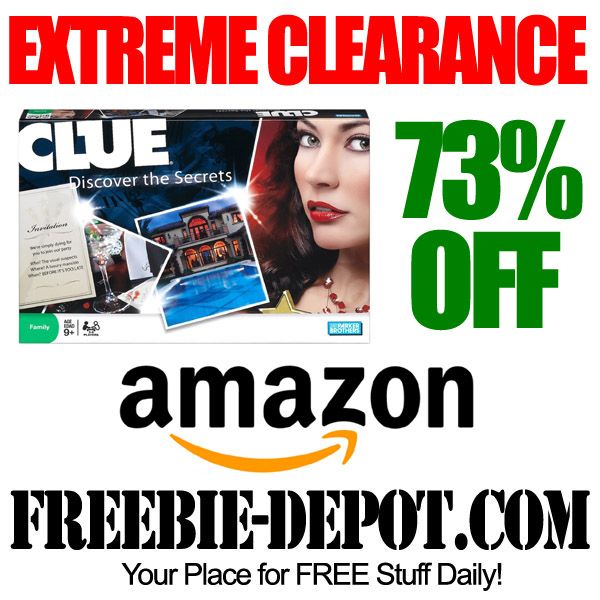 Extreme Clearance Clue Board Game at Amazon.com