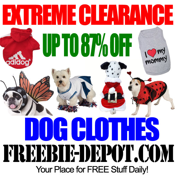 Extreme Clearance Dog Apparel